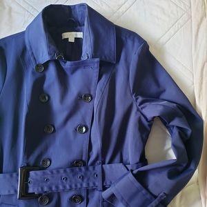 New York and Company Blue Rain coat